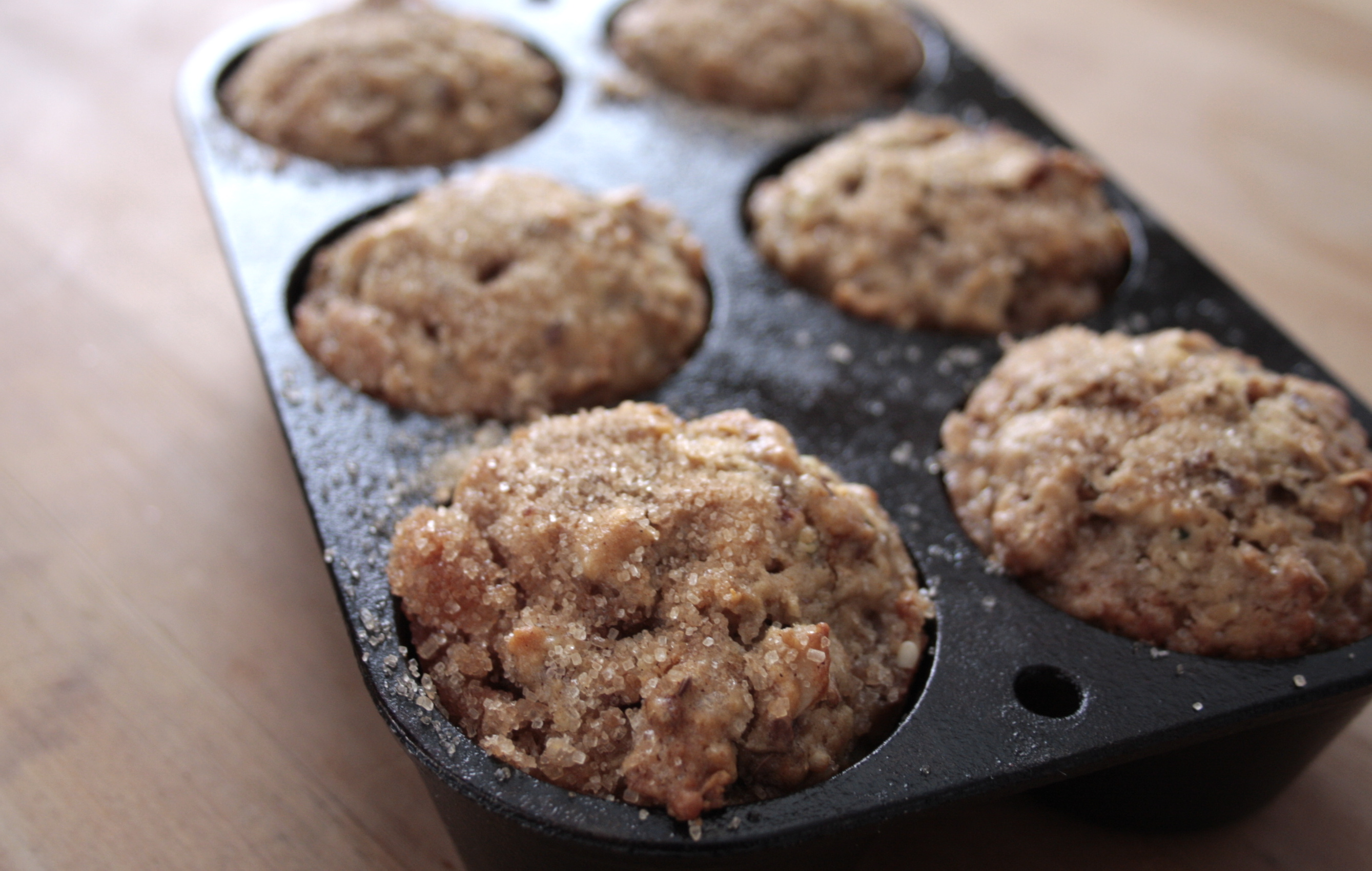 ginger pear apple butter muffins