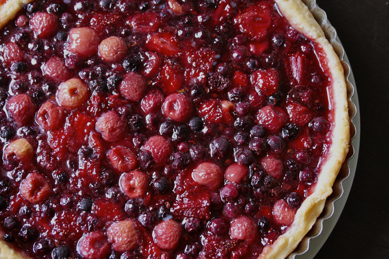 Foraged Berry Tart Recipe — Dishmaps
