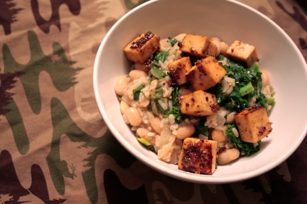 tofu beans and kale