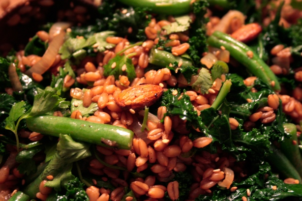 wheat berries n greens