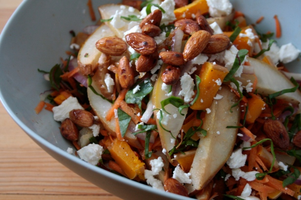 roasted squash and pear salad