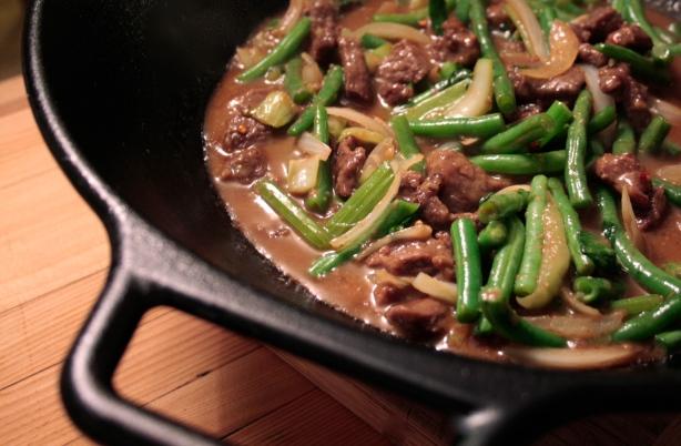 beef + beans wok