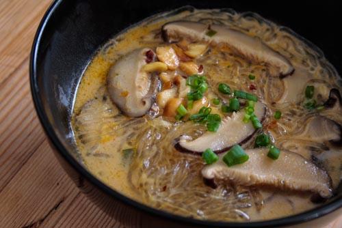 creamy thai mushroom soup-6