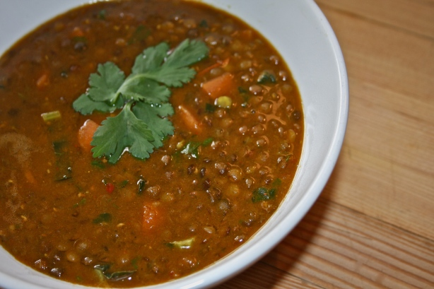 easy curry lentil soup