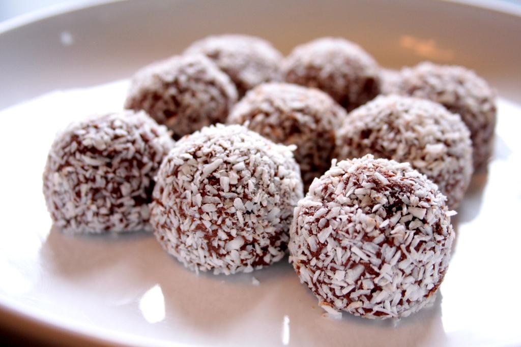 vegan nut butter truffle balls