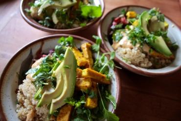 quinoa satay dragon bowls