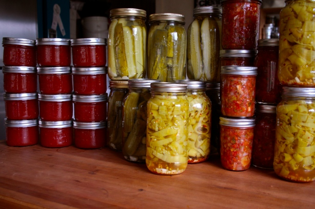 a morning of canning