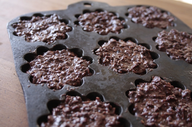 no bake chocolate flowers